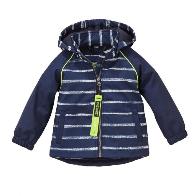 Jungen Jacke Softshelljacke Regenjacke Kapuze wasserabweisend 10.000 mm Wassersäule winddicht atmungsaktiv, blau – 8480907