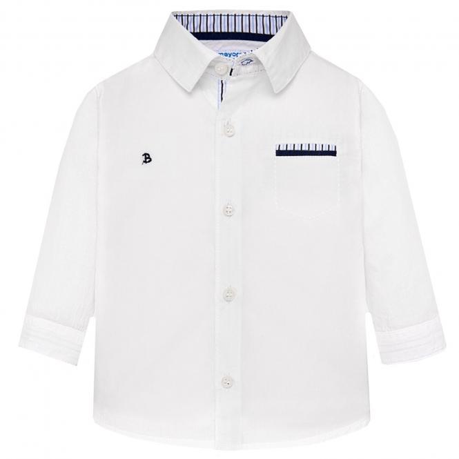 Mayoral festliches langarm Jungenhemd, weiß - 1.134w