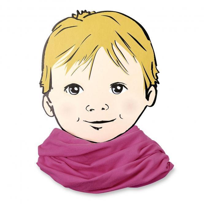 Mädchen Halstuch Loop Allrounder einfarbig, himbeer - 1531450h