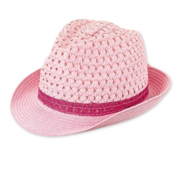 """Mädchen Kinder Baby Sonnenhut Strohhut """"Schmetterling"""", rosa-pink – 1422080"""
