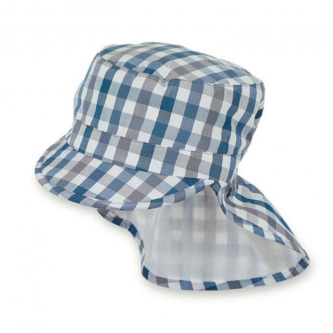 Jungen Schirmmütze, Sommermütze mit Nackenschutz, UV-Schutz 15, blau - 1621921