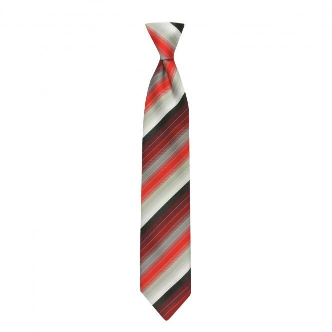 Schlips Krawatte Jungen gestreift, rot