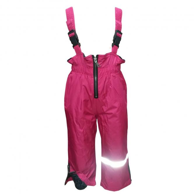 Mädchen Regenhose Matschhose Skihose Latzhose Fleecefutter wasserundurchlässig, pink