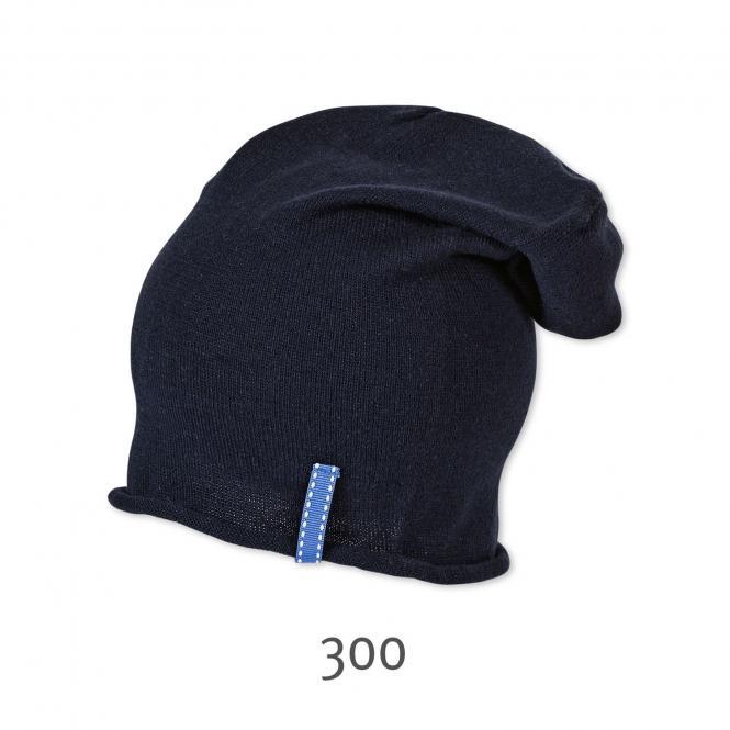 Kurze Mütze Beanie einfarbig Jungen, dunkelblau