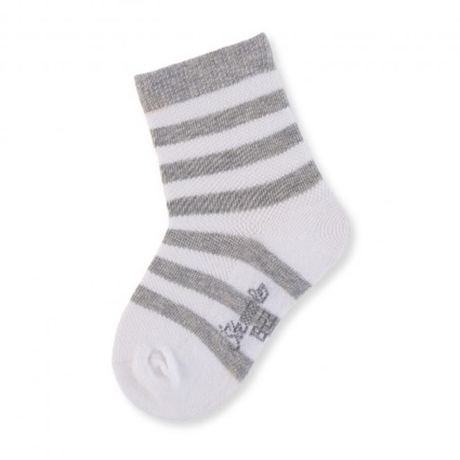 Jungen Socken gestreift, grau - 8501810