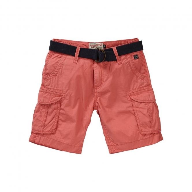 Petrol Industries Jungen Chino-Shorts mit Gürtel, rot - B-SS19-SHO500r