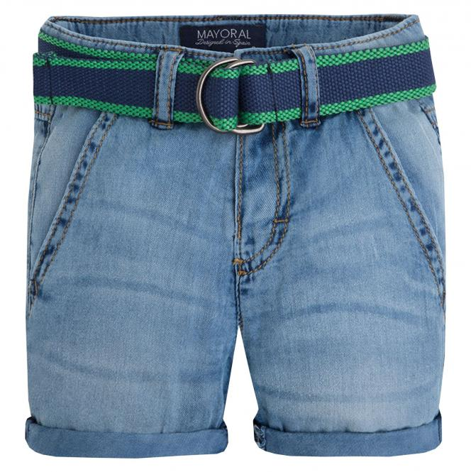 Kurze Hose Bermuda Jungen mit Gürtel, jeans - 3207