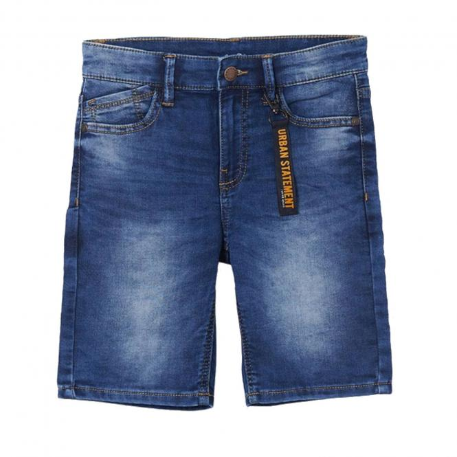 """Jungen Bermuda Sommerhose kurz Druckknopfverschluss verstellbarer Taillenbund """"Urban Statement"""" , jeansblau - 6293"""