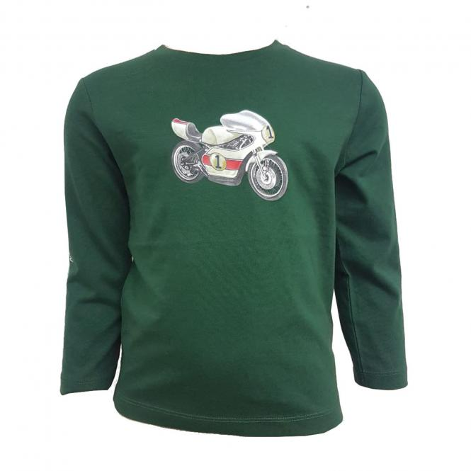 "Jungen Langarm Shirt Rundkragen Print '' Motorrad""' ,grün - 4.047"