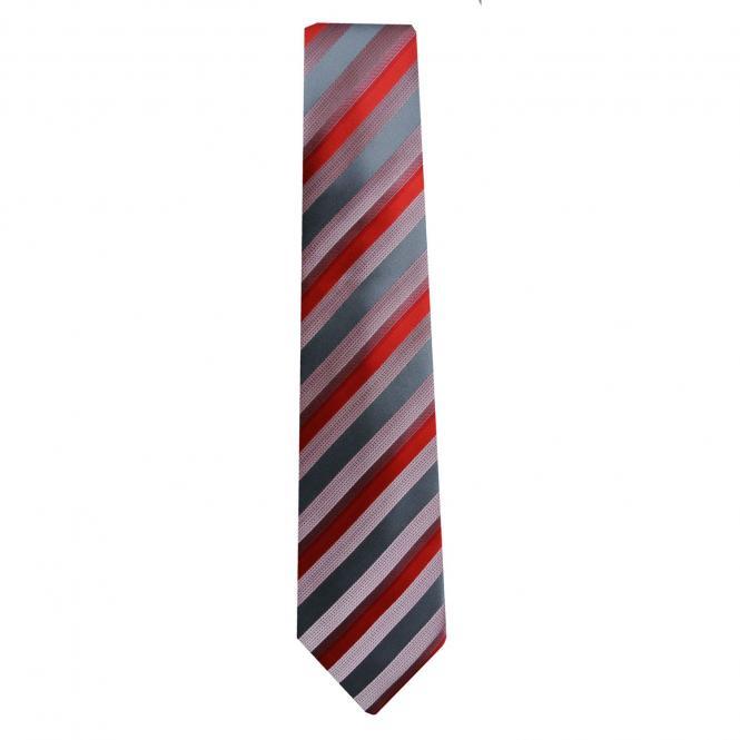 Schlips Krawatte Jungen gestreift, rot-gestreift - 4293