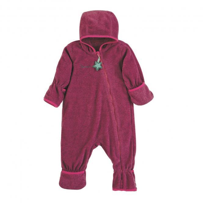 Baby Overall Mädchen Fleece mit Reißverschluss Hand- und Fußstulpen, magenta mel. - 5501800-magen
