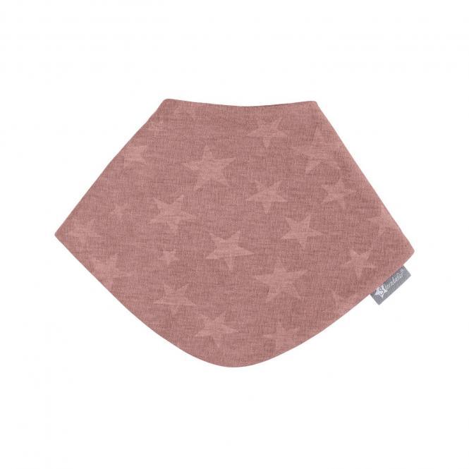 """Baby Mädchen Dreieckstuch 2-lagig wasserundurchlässig mit Klettverschluss einfarbig gemustert """"Sterne"""", koralle – 4102010"""