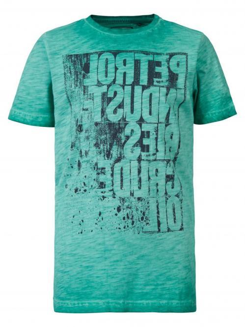 Petrol Industries Jungen T-shirt mit Druck, grün- B-SS19-TSR603