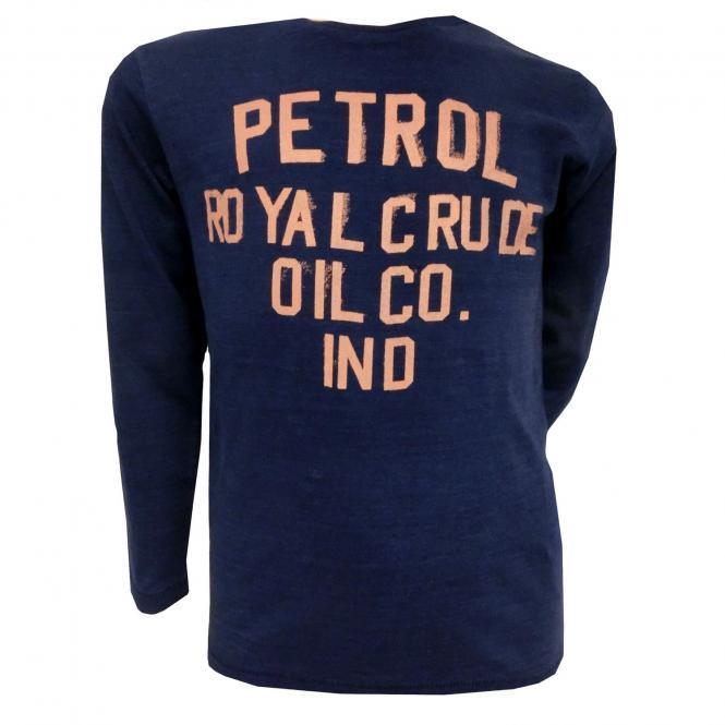 Langarmshirt Jungen T-Shirt Schriftzug, dunkelblau