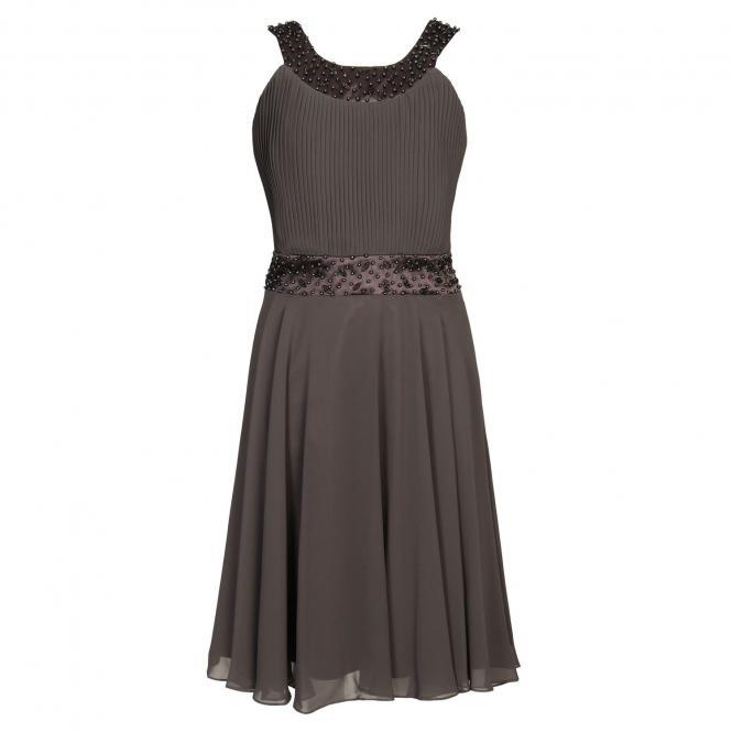 Festliches Kleid Mädchen mit Pailetten und Stola, schwarz