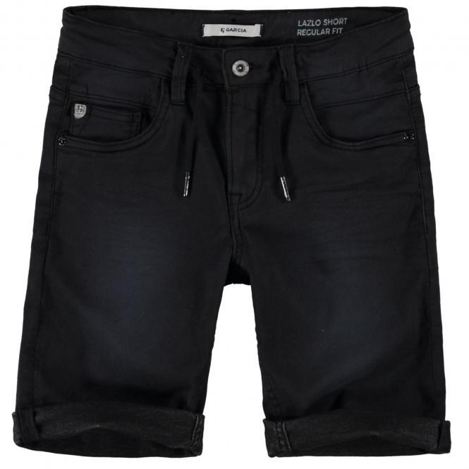 """Jungen Jeansshorts Sommerhose kurz 5-Pocket-Jeans """"Bund mit Bändern"""" , schwarz - GS130308_Lazlo boys"""