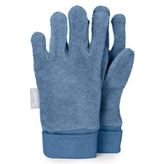 Jungen Handschuhe Fingerhandschuhe Microfleece, blau mel. - 4331410