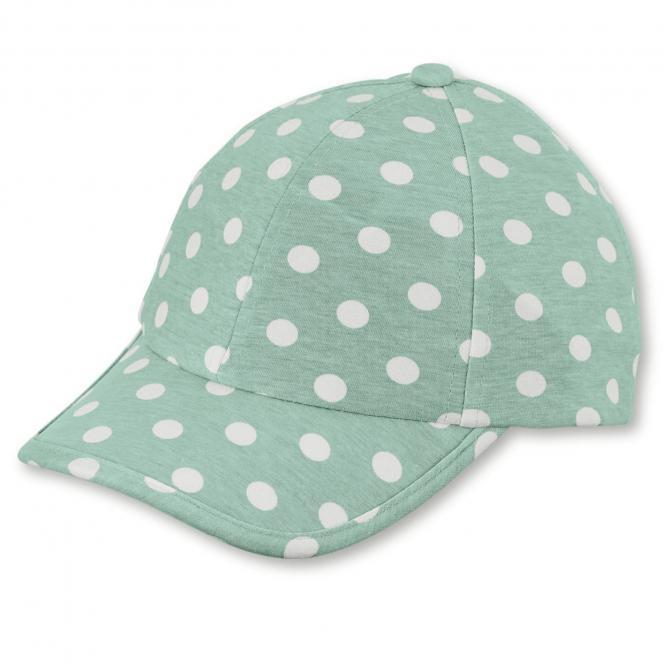 """Mädchen Baseball Cap Sonnenhut mit LSF UV-Schutz 15 """"gepunket"""", grün – 1422002"""