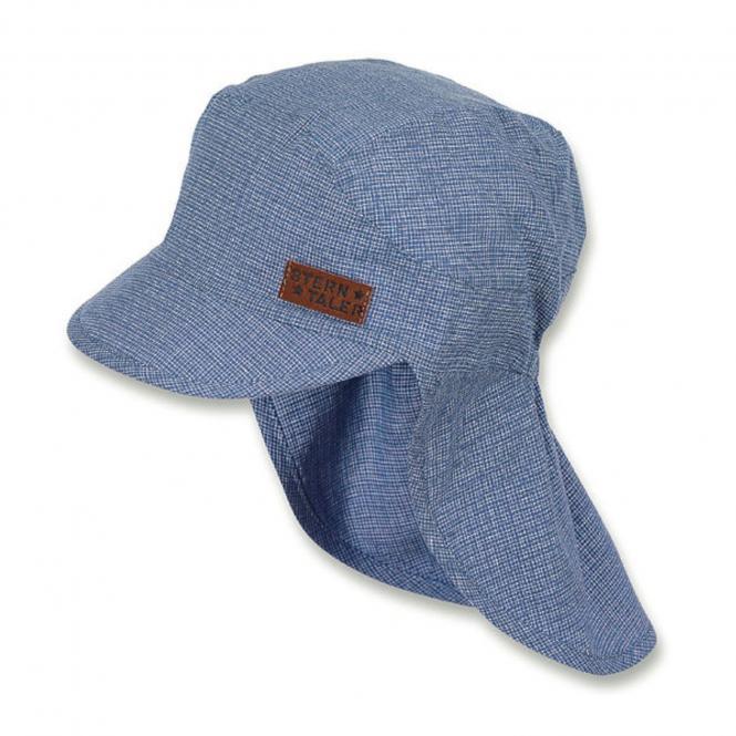 Jungen Schirmmütze, Sommermütze mit Nackenschutz, UV-Schutz 30, blau - 1621915