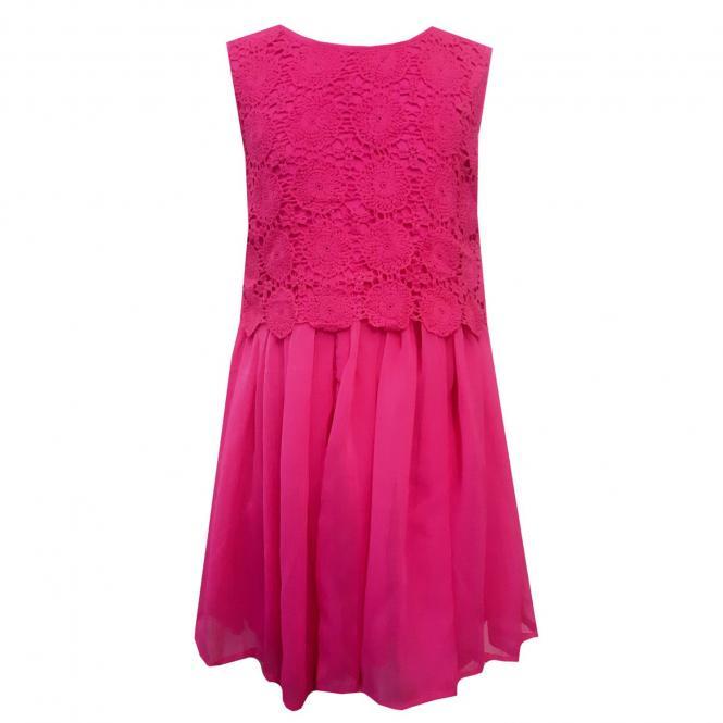 Eisend Festkleid für Kinder mit Strickmuster, pink - 584155p