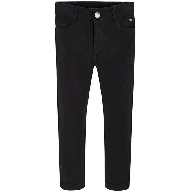 Mädchen Hose super Skinny Jeggings Uni Farbe, schwarz - 511s