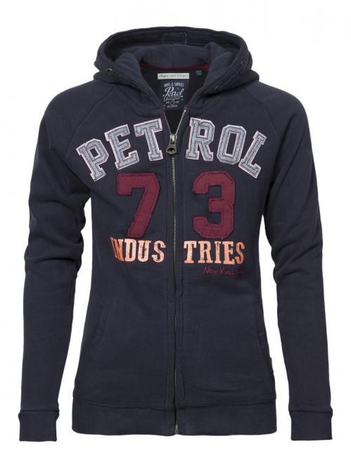 Mädchen Kids Sweater Jacke mit Kaputze , dunkelblau - G-FW16-SWH028