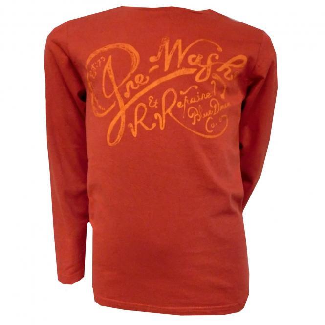 Langarmshirt Jungen T-Shirt Schriftzug, rot