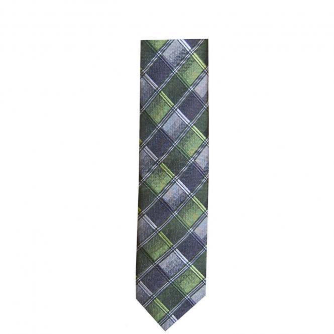 Schlips Krawatte zum Binden Jungen, grün