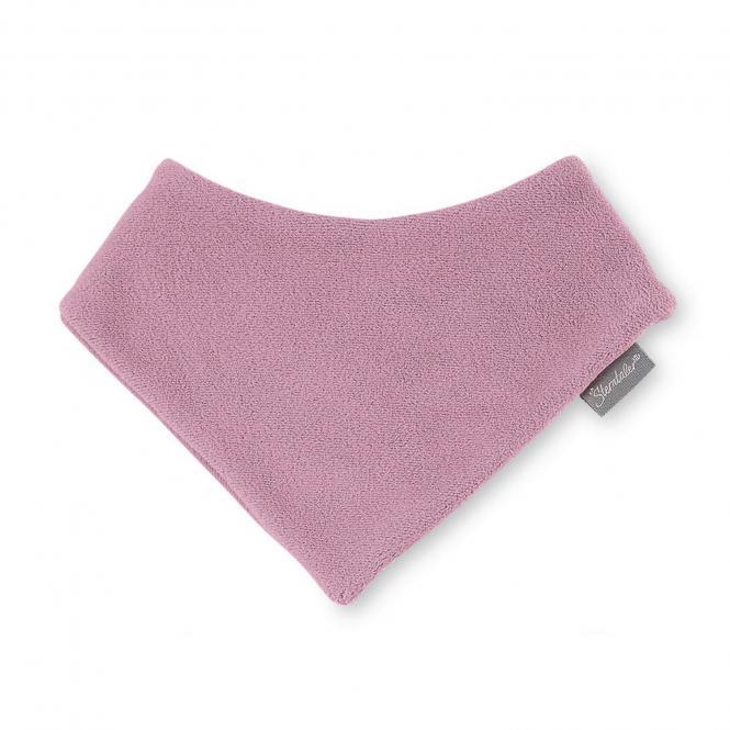 Baby Mädchen Dreieckstuch Halstuch Klettverschluss Fleece einfarbig, helllila  - 4101400