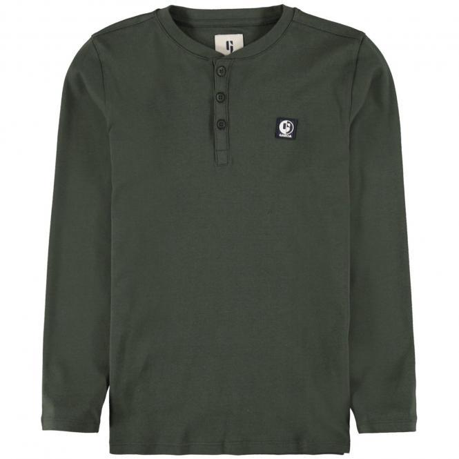 Garcia Jungen Langarmshirt mit Logo der Firma- Dunkelgrün- U03405