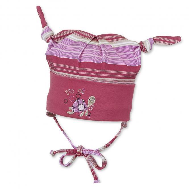Baby Mädchen Knotenmütze in Rot Pink - 1501738