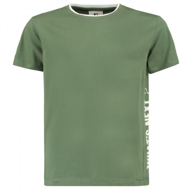 """Jungen T-Shirt Garcia, Schriftzug """"What's next?"""", grün-weiß - B93602"""