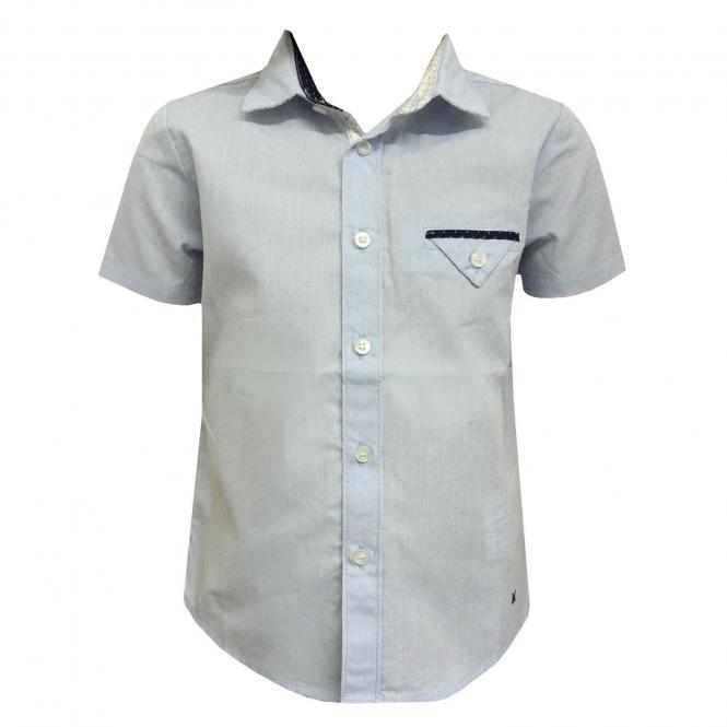 Jungenhemd Hemd kurzarm festlich, blau - 1151