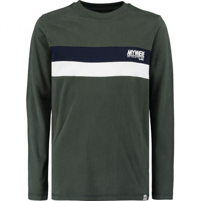 Garcia- Jungen Langarm Shirt mit Motiv- -Grün--U03401