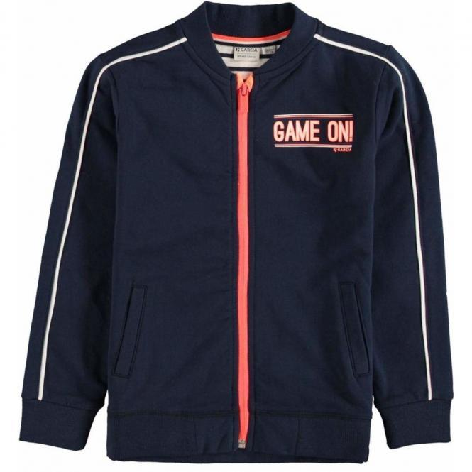 Garcia- Jungen Langärmelig Jacke mit Motiv- Blau- U05465