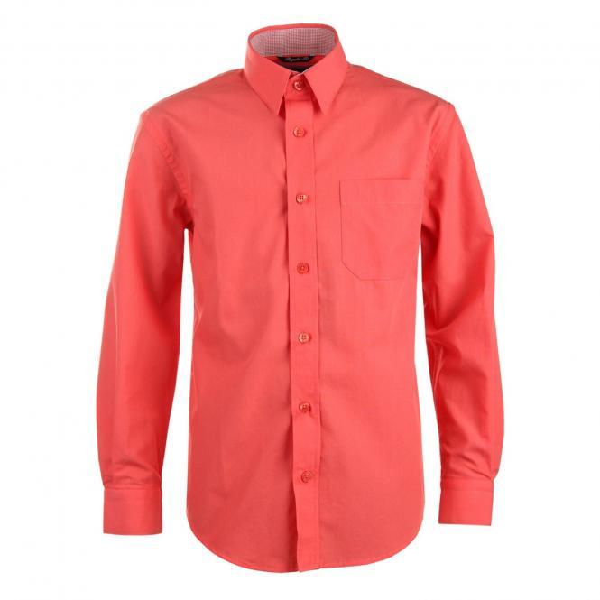 Jungen Festliches Hemd langarm, coral