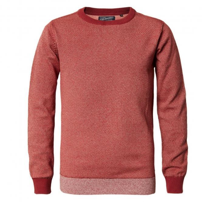 Jungen Pullover Jersey Sweatshirt Langarmshirt mit Muster, rot - B-PS19-KWR281r