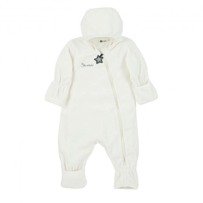 Baby Overall Mädchen Fleece mit Reißverschluss Hand- und Fußstulpen, beige - 5501800-ecru