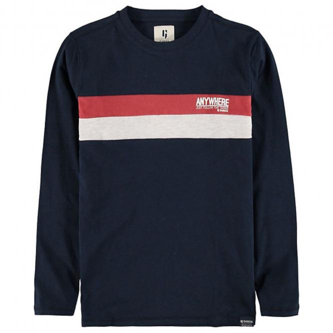Garcia- Jungen Langarm Shirt mit Motiv- Blau-U03401