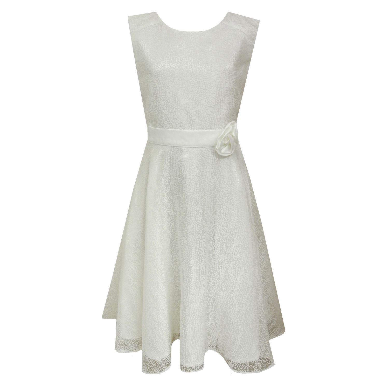 Eisend Festliches Kleid Mädchen Sommerkleid gemustert, natur ...