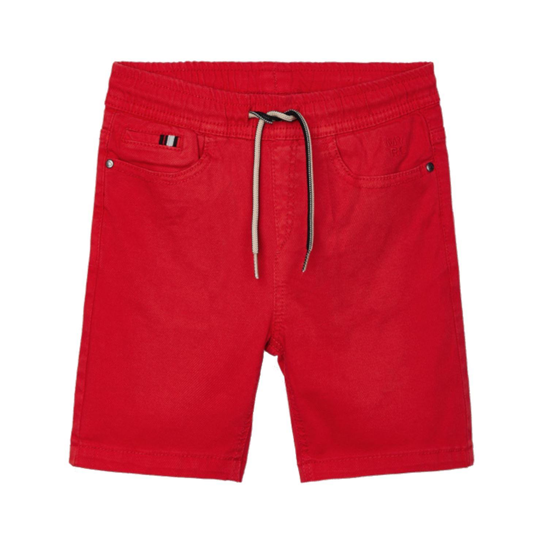 Mayoral 607. M/ädchen Kurze Hose Sommehose Shorty mit Band und Taschen verziert Korallenrot