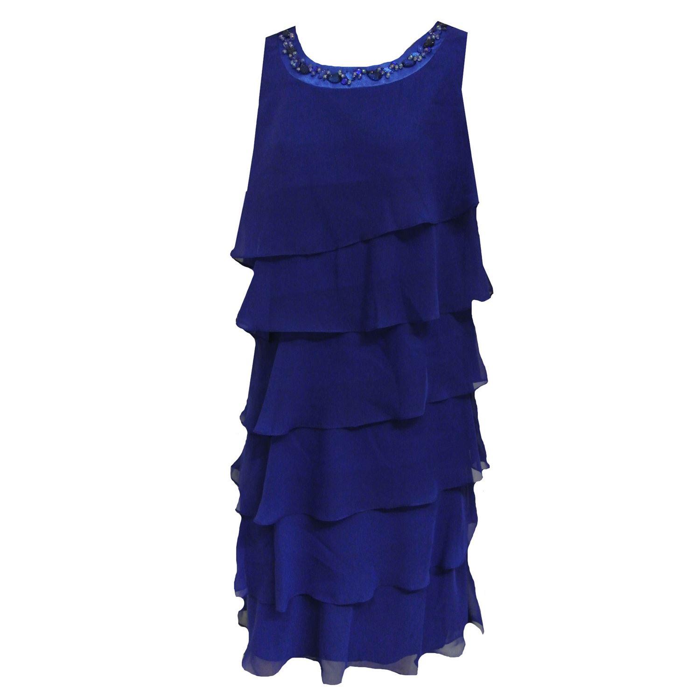 G.O.L. Festliches Kleid Mädchen mit Pailetten und Stola, blau ...
