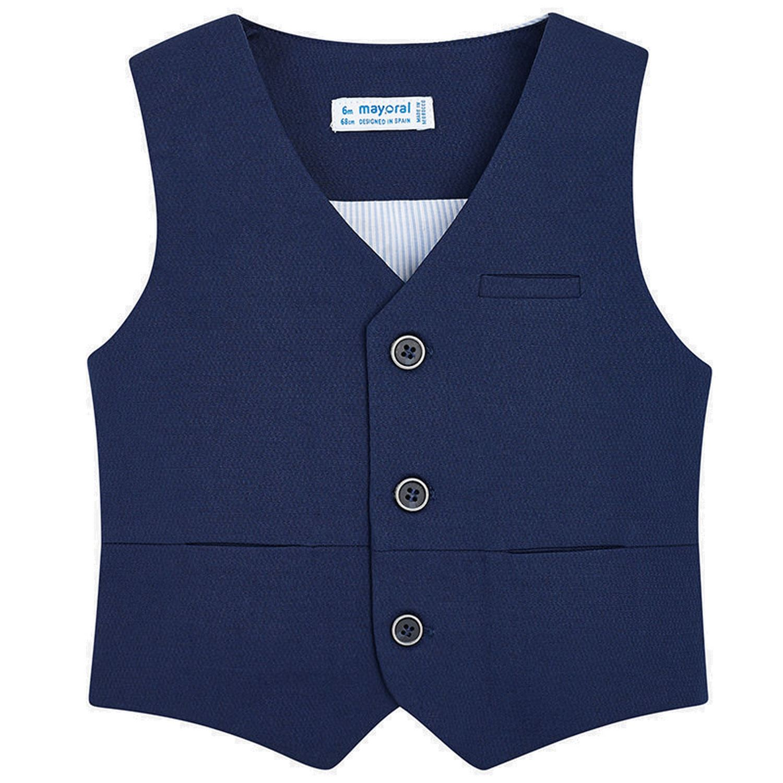 mayoral baby jungen festliche weste, blau - 1442   exclusive