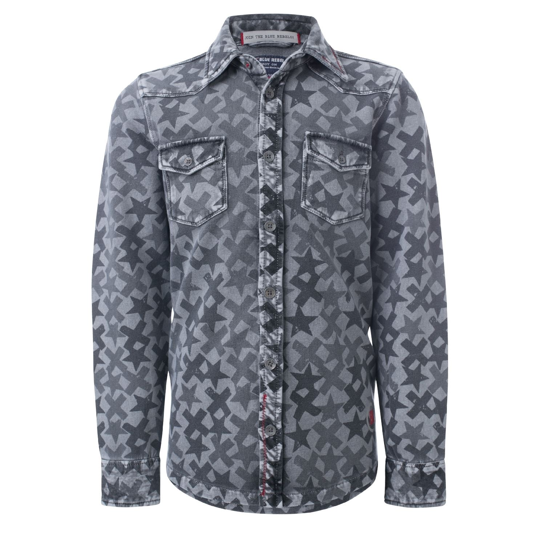 Blue Rebel Jungen Pullover Hemd Gemustert Grau 723500 Exclusive