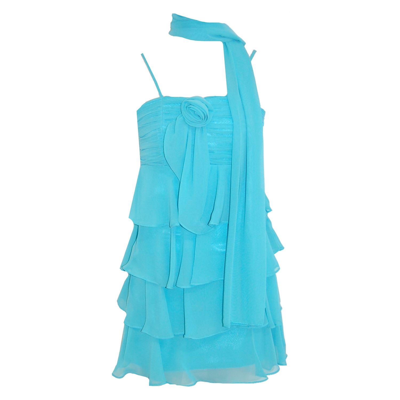 G O L Festkleid Festliches Kleid Madchen Mit Stola Turkis Exclusive
