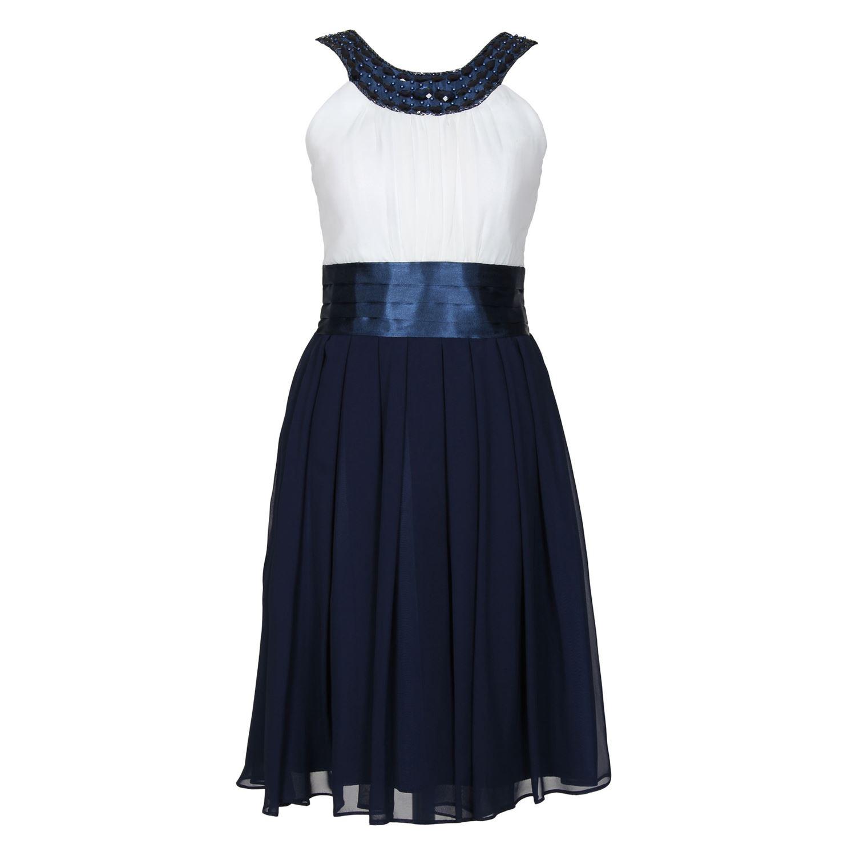 g.o.l. festliches chiffon-kleid mädchen, blau-weiß - 1368600