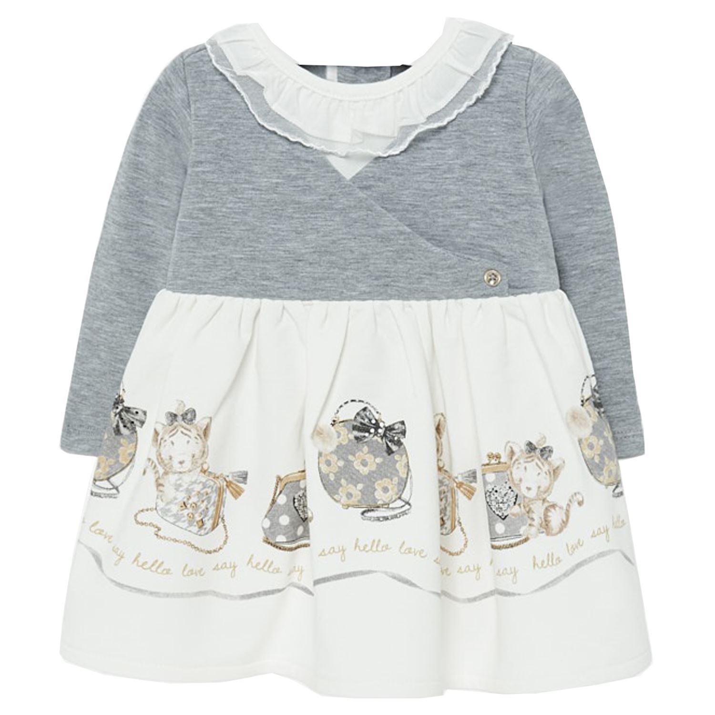 Mayoral Baby Mädchen Kleid langarm Winterkleid mit Knöpfen ...